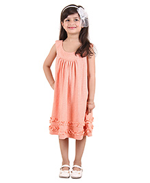 Kids On Board Sleeveless Party Dress - Peach