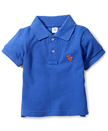 ToffyHouse Polo T-Shirt Embroidered Deer - Royal Blue