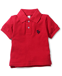 ToffyHouse Polo T-Shirt Embroidered Deer - Red