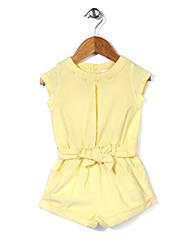 ToffyHouse Magyar Sleeves Jumpsuit With Belt - Lemon Yellow