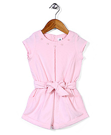ToffyHouse Magyar Sleeves Jumpsuit With Belt - Light Pink
