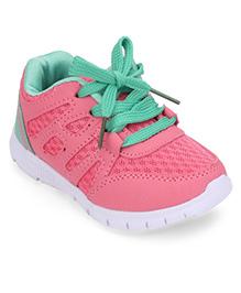 Cute Walk by Babyhug Casual Shoes - Pink Green