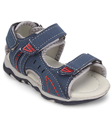 Cute Walk Sandals With Velcro Closure - Navy