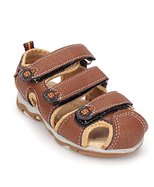 Cute Walk by Babyhug Sandals With Velcro Closure - Brown