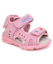 Cute Walk by Babyhug Sandals With Velcro Closure - Pink