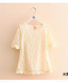 Pre Order : Mauve Collection Cute Lace Dress Summer Special - Cream