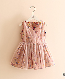 Pre Order Mauve Collection Pretty Floral Printed Dress - Peach
