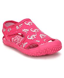 Cute Walk by Babyhug Sandals Dinosaur Print - Pink
