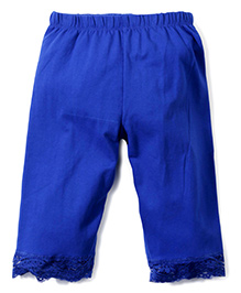 Babyhug Three Fourth Leggings - Royal Blue