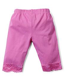 Babyhug Three Fourth Leggings - Pink