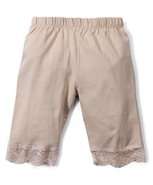 Babyhug Three Fourth Leggings - Beige