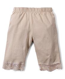 Babyhug Three Fourth Leggings - Beige
