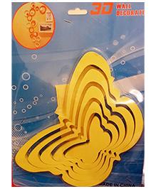 Little Nests 3D Wooden Butterfly Design Wall Art - Yellow