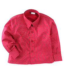 Babyhug Full Sleeves Dotted Print Shirt - Red