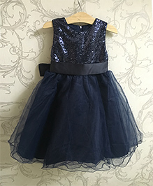 Piperz Sequined Party Wear Dress - Blue