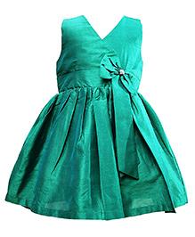 Darlee & Dache Sleeveless Party Dress Bow Design - Green