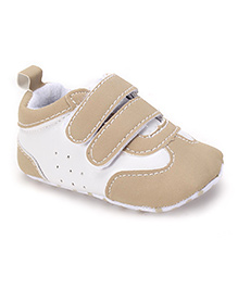 Cute Walk by Babyhug Shoes Style Booties - Khaki White