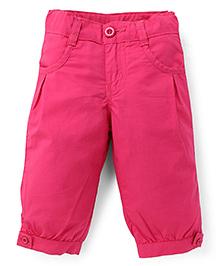 Babyhug Solid Color Capri - Pink