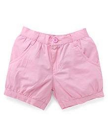 Babyhug Plain Shorts - Pink