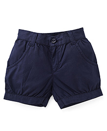 Babyhug Plain Shorts - Navy Blue