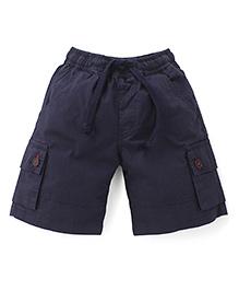 Babyhug Shorts With Drawstrings - Navy