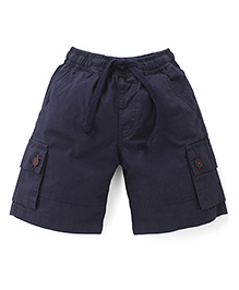 Babyhug Shorts With Drawstrings - Navy