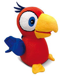 IMC Toys Charlie Talkie Parrot With Cage - Red