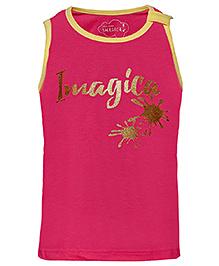 Imagica Sleeveless Printed T-Shirt - Fuchsia