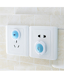 EZ Life 6 Pcs Two-Pin Plug Lock Cover For Child Safety - White