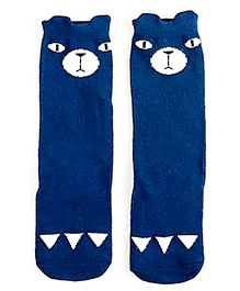 Mauve Collection Cute Trendy Animal Printed Socks - Blue