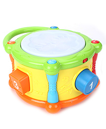 Musical Toy Drum - Orange Yellow Green