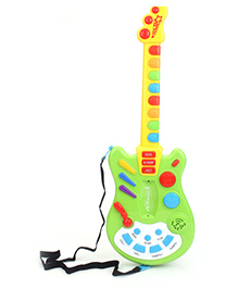Musical Guitar - Green And Yellow
