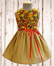 A.T.U.N Henna Embroidered Dress - Beige