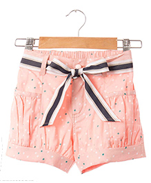 Hugsntugs Polka Dot Print Shorts - Pink