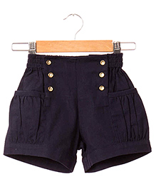 Hugsntugs Twill Shorts - Navy Blue