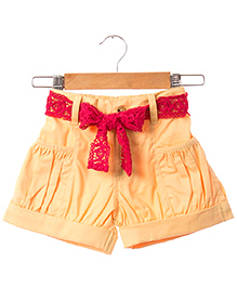 Hugsntugs Twill Shorts - Yellow
