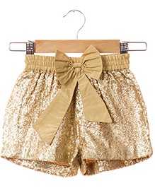 Hugsntugs Sequins Shorts - Golden