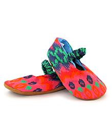Skips Printed Slip On Mary Jane Jootie Booties - Multi Color
