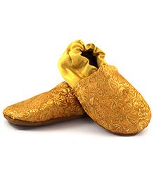 Skips Printed Slip On Jootie Booties - Golden