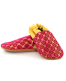 Skips Printed Slip On Jootie Booties - Pink