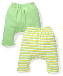 Morisons Baby Dreams Diaper Leggings Pack of 2 - Green And Yellow