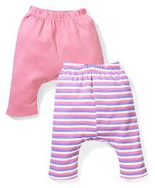 Morisons Baby Dreams Diaper Leggings Pack of 2 - Pink And Purple