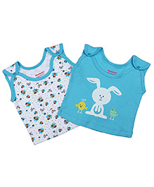 Morisons Baby Dreams Sleeveless Vests Pack of 2 - Blue White