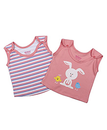 Morisons Baby Dreams Sleeveless Vests Pack of 2 - Pink White