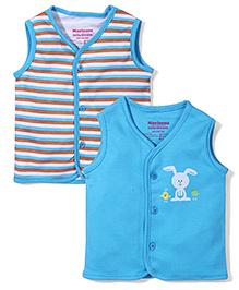 Morisons Baby Dreams Sleeveless Vest Set of 2 - Blue