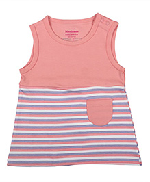 Morisons Baby Dreams Sleeveless Bee Print  Dress - Pink And White