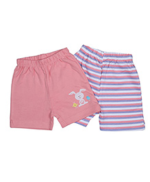 Morisons Baby Dreams Casual Shorts Set of 2 - Pink Blue