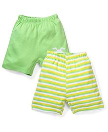 Morisons Baby Dreams Casual Shorts Set of 2 - Green Yellow