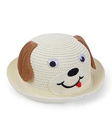 Babyhug Hat Puppy Design - Cream Brown