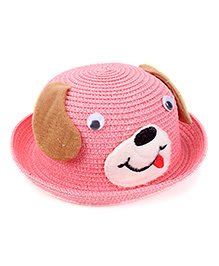 Babyhug Hat Puppy Design - Light Pink Brown
